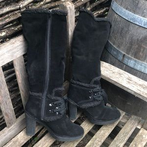 Juice Couture tall black suede boot 8.5